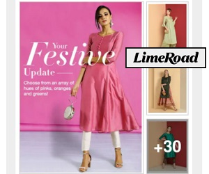 Limeroad offers easy Online Shoppingexperience